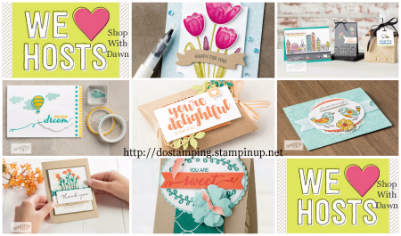 Stampin' Up! Host Stamp Sets, make your Stampin' Rewards go further with June 2017 We Love Host promotion #dostamping