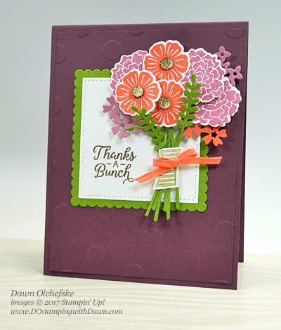 Stampin' Up! Beautiful Bouquet Bundle card by Dawn Olchefske for DOstamperSTARS Thursday Challenge #DSC236 #dostamping