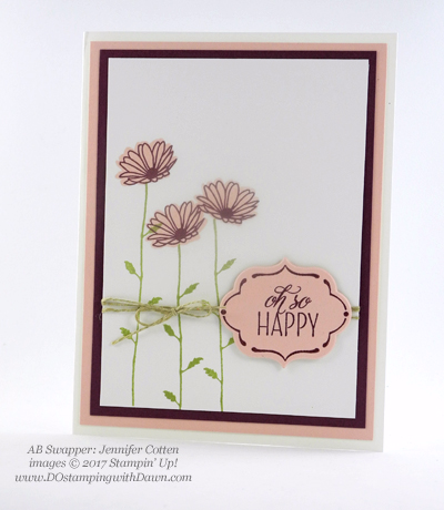 Stampin' Up! Delightful Daisy Bundle swap cards shared by Dawn Olchefske #dostamping (Jennifer Cotten)