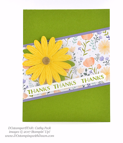 Stampin' Up! Delightful Daisy Bundle swap cards shared by Dawn Olchefske #dostamping (Cathy Peck)