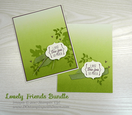 Two For Tuesday, Stampin' Up! Lovely Friends cards shared by Dawn Olchefske #dostamping