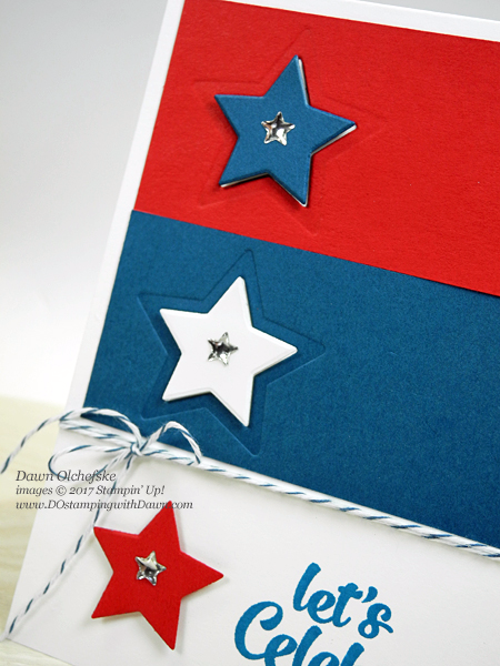 Stampin' Up! Confetti Celebration 4th of July card created by Dawn Olchefske #dostamping