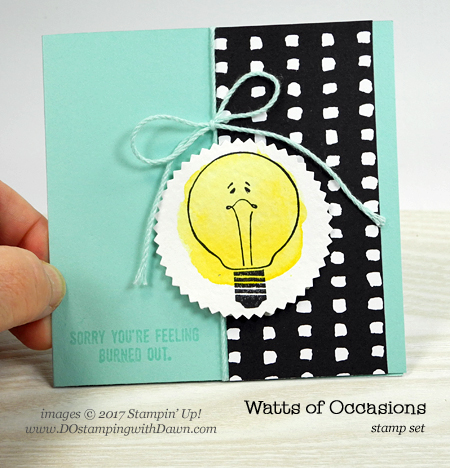 Stampin' Up! CASE the Catty pg 94 with Watts of Occasions cards shared by Dawn Olchefske #dostamping