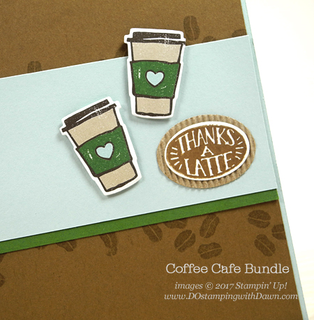 Stampin' Up! Coffee Café bundle quick & cute card shared by Dawn Olchefske #dostamping