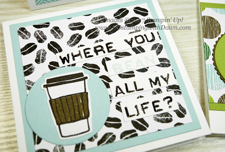 Stampin' Up! Coffee Cafe Pun Cards & Gift Box shared by Dawn Olchefske #dostamping