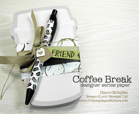 Stampin' Up! Coffee Break Sticky Notepad & Pen Gift Set created by Dawn Olchefske #dostamping
