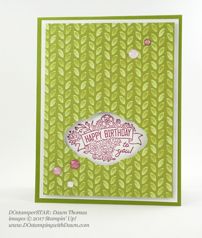 Stampin' Up! Label Me Pretty card shared by Dawn Olchefske #dostamping (Dawn Thomas)