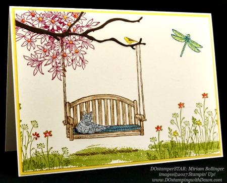 Stampin' Up! Sitting Here card shared by Dawn Olchefske #dostamping(Miriam Bolinger)