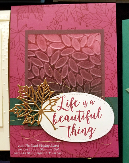 Stampin' Up! Thailand Display Samples of Color Theory & Seasonal Layers shared by Dawn Olchefske #dostamping