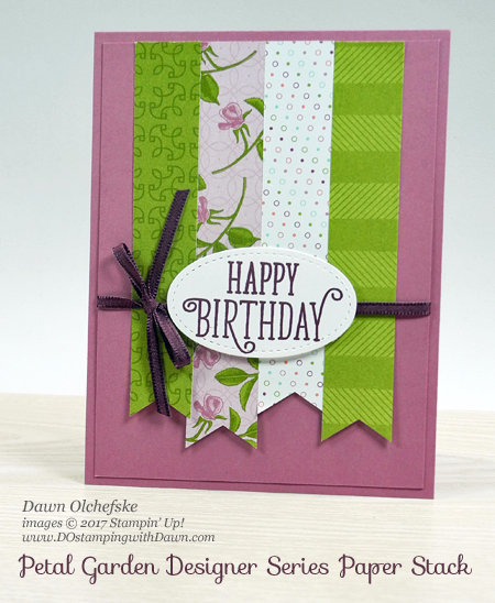 Stampin' Up! Petal Garden DSP card by Dawn Olchefske for DOstamperSTARS Thursday Challenge #DSC240 #dostamping