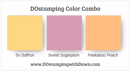 Stampin' Up! Color Combo So Saffron, Sweet Sugarplum, Peekaboo Peach #dostamping