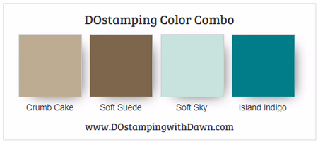 Stampin' Up! Color Combo Crumb Cake, Soft Suede, Soft Sky, Island Indigo #dostamping