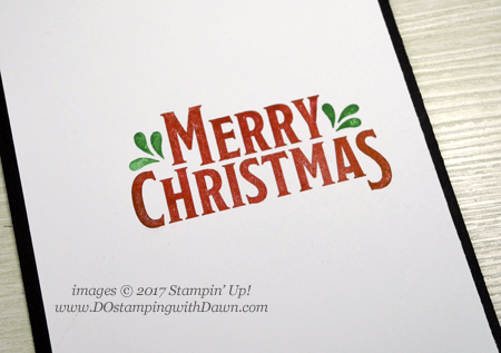 Stampin' Up! Merry Mistletoe & Be Merry DSP card shared by Dawn Olchefske for DOstamperSTARS Thursday Challenge #DSC244 #dostamping