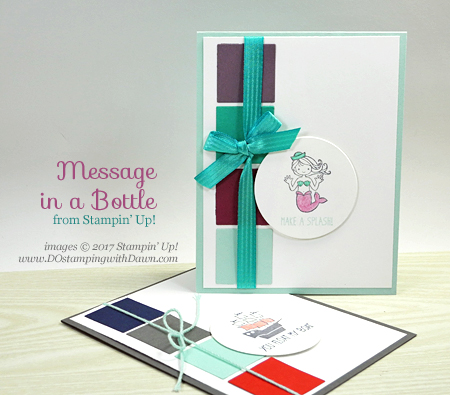 Stampin' Up! Message in Bottle cards shared by Dawn Olchefske #dostamping