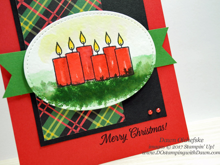 Stampin' Up! exclusive Merry Patterns card by Dawn Olchefske for DOstamperSTARS Thursday Challenge #DSC247 #dostamping #stampinup #handmade #cardmaking #stamping #diy #merrypatterns #christmasaroundtheworlddsp