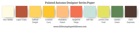 Painted Autumn Designer Series Paper Colors #stampinup #dostamping #colorcombo