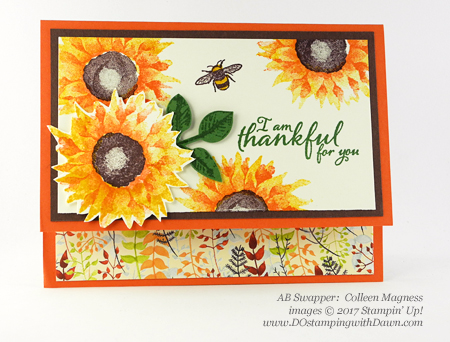 Stampin' Up! Painted Harvest Bundle swap cards shared by Dawn Olchefske #dostamping  #stampinup #handmade #cardmaking #stamping #diy #paintedharvest (Colleen Magness)