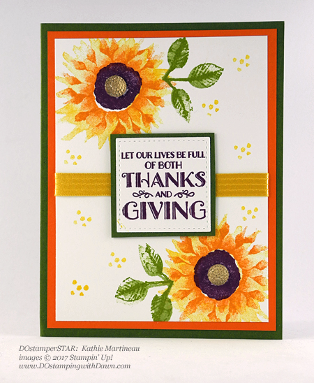 Stampin' Up! Painted Harvest Bundle swap cards shared by Dawn Olchefske #dostamping  #stampinup #handmade #cardmaking #stamping #diy #paintedharvest (DOstamperSTAR Kathie Martineau)