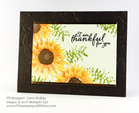 Stampin' Up! Painted Harvest Bundle swap cards shared by Dawn Olchefske #dostamping  #stampinup #handmade #cardmaking #stamping #diy #paintedharvest (Lorri Heiling)