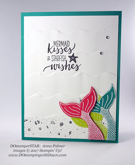 Stampin' Up! Magical Mermaid DOstamperSTARS swap shared by Dawn Olchefske #dostamping  #stampinup #handmade #cardmaking #stamping #diy #birthday (Anna Palmer)