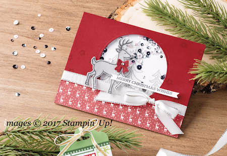 Stampin' Up!  Santa's Sleigh Shaker Card #christmas #santassleigh #bigshot #cardmaking #stampinup shared by Dawn Olchefske