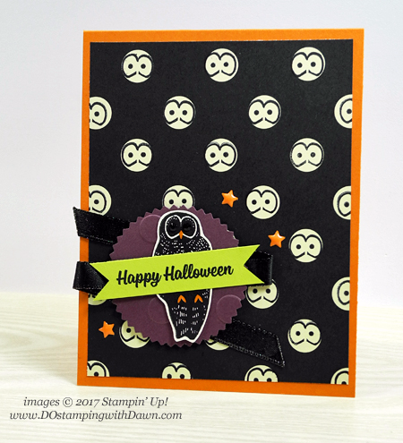 Stampin' Up! Spooky Night Suite card shared by Dawn Olchefske #dostamping  #stampinup #handmade #cardmaking #stamping #diy #halloween #spookycat