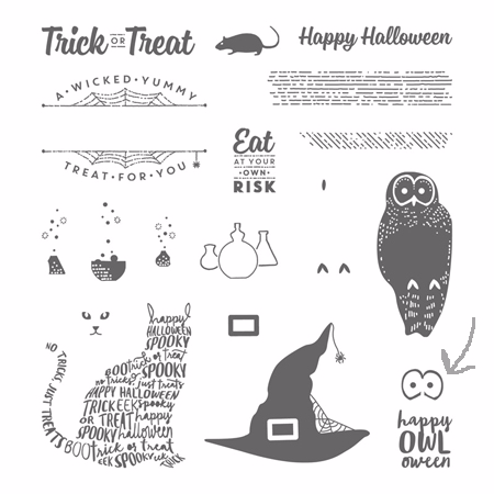 Stampin' Up! Spooky Cat stamp set - 2017 Holiday Catalog
