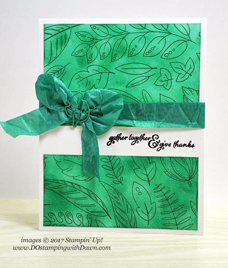 Stampin' Up! Just Add Color Specialty Designer Series Paper shared by Dawn Olchefske #dostamping #stampinup #handmade #cardmaking #stamping #diy #justaddcolor #dspsale #thankyou #paintedharvest