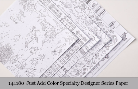 Stampin' Up! Just Add Color Specialty Designer Series Paper #dostamping  #stampinup #handmade #cardmaking #stamping #diy #justaddcolor #dspsale