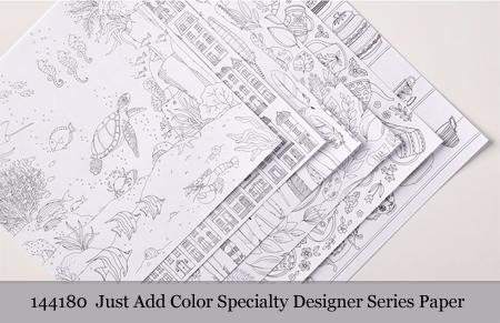Stampin' Up! Just Add Color Specialty Designer Series Paper #dostamping #stampinup #handmade #cardmaking #stamping #diy #justaddcolor #dspsale
