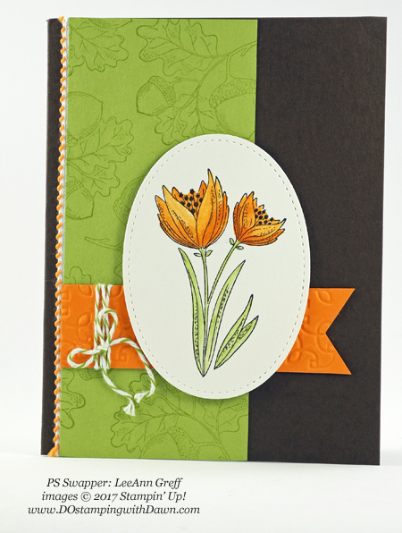 Stampin' Up! Count My Blessing stamp set shared by Dawn Olchefske #dostamping #stampinup #handmade #cardmaking #stamping #diy #fall #halloween #rubberstamping (LeeAnn Greff)