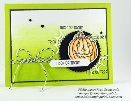 Stampin' Up! Seasonal Chums stamp set shared by Dawn Olchefske #dostamping  #stampinup #handmade #cardmaking #stamping #diy #fall #halloween #rubberstamping (Rose Grunewald)