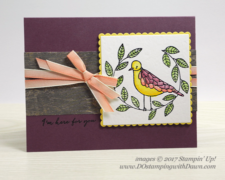 Stampin' Up! Cheery Chirps stamp set shared by Dawn Olchefske #dostamping  #stampinup #handmade #cardmaking #stamping #diy #holiday #rubberstamping #watercoloring #bird