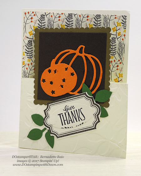Stampin' Up! Labels to Love stamp set & Patterned Pumpkin Thinlits shared by Dawn Olchefske #dostamping  #stampinup #handmade #cardmaking #stamping #diy #rubberstamping (Bernadette Baio)