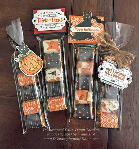 Stampin' Up! Seasonal Chums bundle, Spooky Cat bundle, Spooky Night Designer Series Paper, Labels to Love stamp set, Everyday Label punch shared by Dawn Olchefske #dostamping  #stampinup #handmade #cardmaking #stamping #diy #rubberstamping (Dawn Thomas)