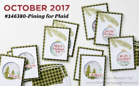 Stampin' Up! Pining for Plaid October 2017 Paper Pumpkin Kit ideas by Dawn Olchefske #stampinup #paperpumpkin #cardmaking #cardkit #rubberstamping #diy #piningforplaid