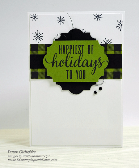 Stampin' Up! Pining for Plaid October 2017 Paper Pumpkin Kit ideas by Dawn Olchefske #stampinup #paperpumpkin #cardmaking #cardkit #rubberstamping #diy #piningforplaid #christmas