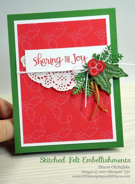 Stampin' Up! Ready for Christmas bundle card by Dawn Olchefske #dostamping #stampinup #handmade #cardmaking #stamping #diy #rubberstamping #christmas #christmascards #readyforchristmas #christmasstaircase #stitchedfeltembellishments