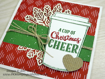 Stampin' Up! Merry Cafe Gift Card Holder shared by Dawn Olchefske for DOstamperSTARS Thursday Challenge #DSC256 #dostamping #stampinup #handmade #cardmaking #stamping #diy #merrycafe #christmas #giftcardholder
