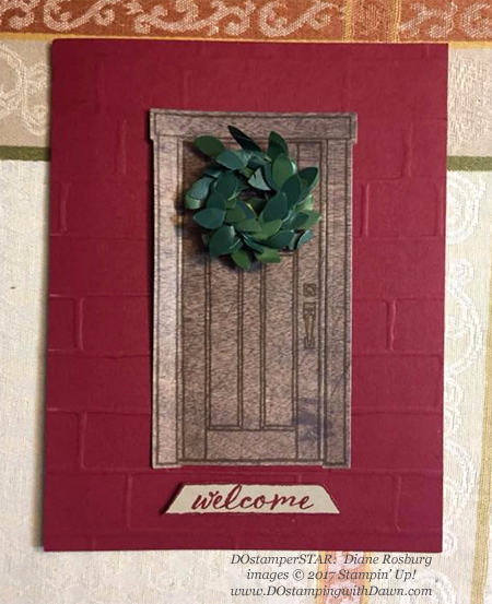 Stampin' Up! At Home Bundle card shared by Dawn Olchefske #dostamping  #stampinup #handmade #cardmaking #stamping #diy #rubberstamping #dostamperstars #christmas (DianeRosburg)