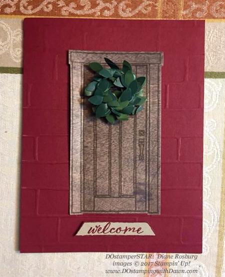 Stampin' Up! At Home Bundle card shared by Dawn Olchefske #dostamping #stampinup #handmade #cardmaking #stamping #diy #rubberstamping #dostamperstars #christmas (DianeRosburg)