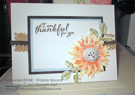 Stampin' Up! Painted Harvest card shared by Dawn Olchefske #dostamping  #stampinup #handmade #cardmaking #stamping #diy #rubberstamping #dostamperstars (Virginia Seward)