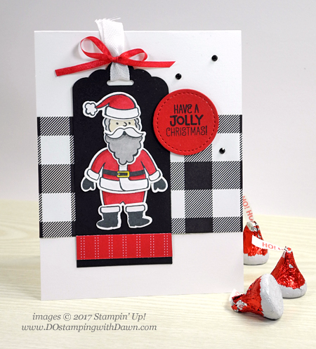 Stampin' Up! Santa's Suit Bundle card by Dawn Olchefske for DOstamperSTARS Thursday Challenge #DSC257 #dostamping #stampinup #handmade #cardmaking #stamping #diy #santassuit #christmascard #santa