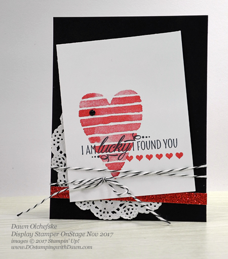 Stampin' Up! Heart Happiness projects created and shared by Dawn Olchefske #dostamping  #stampinup #handmade #cardmaking #stamping #diy #rubberstamping #love #valentinesdaycard #hearthappiness #OnStage2017