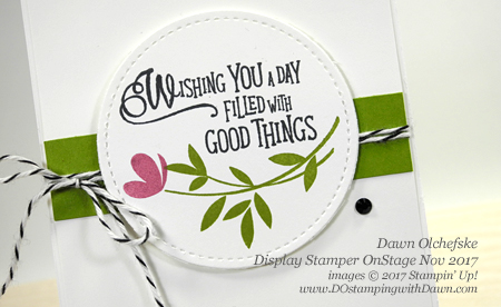 Stampin' Up! Picnic with You Note Cards created and shared by Dawn Olchefske #dostamping #stampinup #handmade #cardmaking #stamping #diy #rubberstamping #OnStage2017