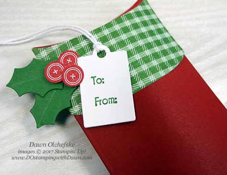 Stampin' Up! Trim Your Stocking by Dawn Olchefske #dostamping #stampinup #handmade #stamping #diy #rubberstamping #gift #packaging #trimyourstocking, #christmas