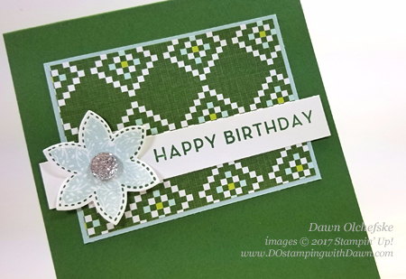 Stampin' Up! Christmas Quilt Bundle Birthday Card by Dawn Olchefske for DOstamperSTARS Thursday Challenge #DSC259 #dostamping #stampinup #handmade #cardmaking #stamping #diy #birthday #christmasquilt