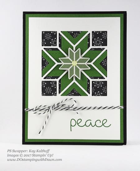 Stampin' Up! Christmas Quilt bundle cards shared by Dawn Olchefske #dostamping #stampinup #handmade #cardmaking #stamping #diy #rubberstamping #christmascards #christmasquilt (Kay Kalthoff)