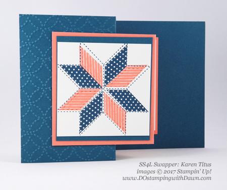 Stampin' Up! Christmas Quilt bundle cards shared by Dawn Olchefske #dostamping #stampinup #handmade #cardmaking #stamping #diy #rubberstamping #christmascards #christmasquilt (KarenTitus)