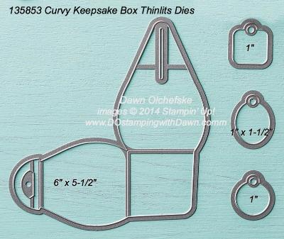 Curvy Keepsake Box Thinlits sizes shared by Dawn Olchefske #dostamping #stampinup